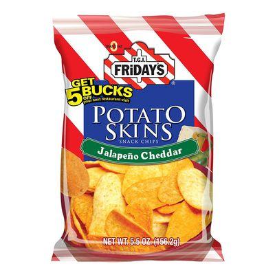 Картофельные чипсы Халапенью и Чеддер Potato Skins Fridays 113,4 гр, фото 1