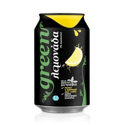 Газировка со стевией Lemon Green 330 мл, фото 1