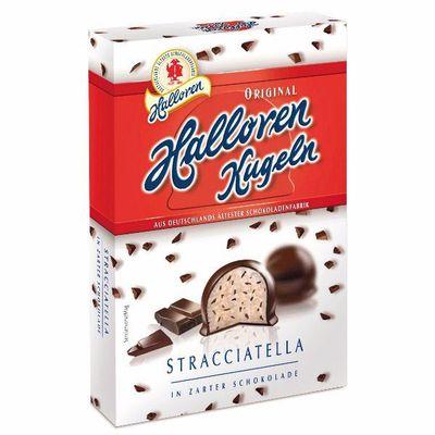 Конфеты с начинкой Страччателла в темном шоколаде Kugeln Halloren 125 гр, фото 1