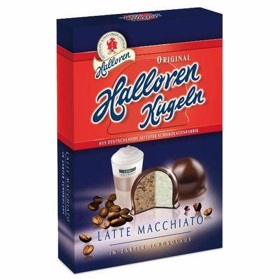 Конфеты с начинкой Латте Макиато в темном шоколаде Kugeln Halloren 125 гр, фото 1