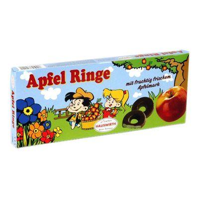Яблочное суфле в темном шоколаде Яблочные кольца Hauswirth 200 гр, фото 1