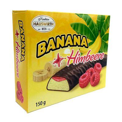 Банановое суфле с малиновым джемом в темном шоколаде Шокобананы Hauswirth 150 гр, фото 1