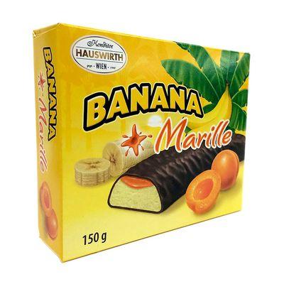 Банановое суфле с абрикосовым джемом в темном шоколаде Шокобананы Hauswirth 150 гр, фото 1
