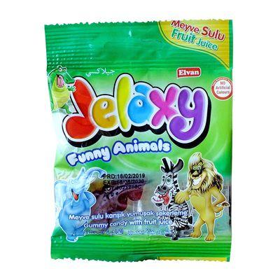 Жевательный мармелад с фруктовым соком Funny Animals Jelaxy 20 гр, фото 2