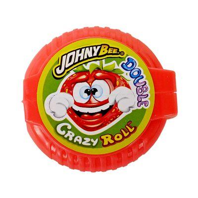 Жвачка роллер Клубника Double Crazy Roll Johny Bee 18 гр, фото 1