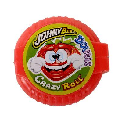 Жвачка роллер Клубника Double Crazy Roll Johny Bee 18 гр, фото 2