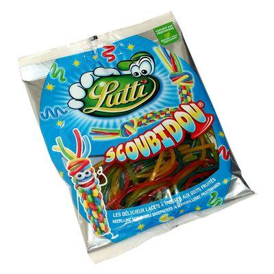 Жевательный мармелад спагетти Scoubidou Lutti 100 гр, фото 1