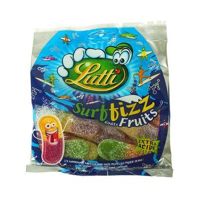 Мармелад Экстракислые языки двойной вкус Surffizz Fruits Lutti 100 гр, фото 2