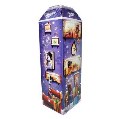 Рождественский шоколадный календарь 3D дом Milka 229 гр, фото 4