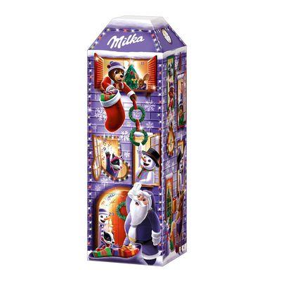 Рождественский шоколадный календарь 3D дом Milka 229 гр, фото 2