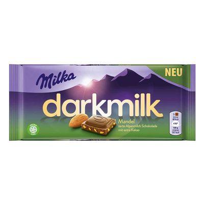 Шоколад с кусочками миндаля Darkmilk Almond Milka 85 гр, фото 1