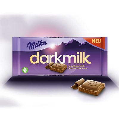 Шоколад Darkmilk Alpine Milk Milka 85 гр, фото 2