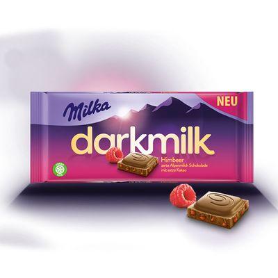 Шоколад с кусочками малины Darkmilk Himbeer Milka 85 гр, фото 2