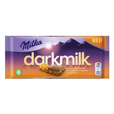 Шоколад с соленой карамелью Darkmilk Karamell Milka 85 гр, фото 1