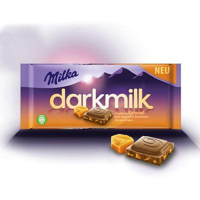 Шоколад с соленой карамелью Darkmilk Karamell Milka 85 гр, фото 2