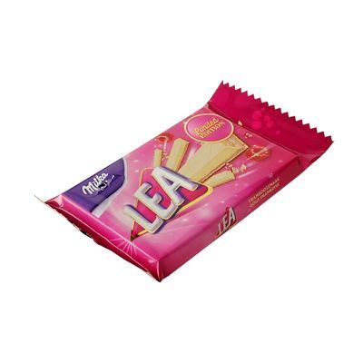 Вафельный батончик с малиновой начинкой Pink Ribbon Lea Milka 33,3 гр, фото 1