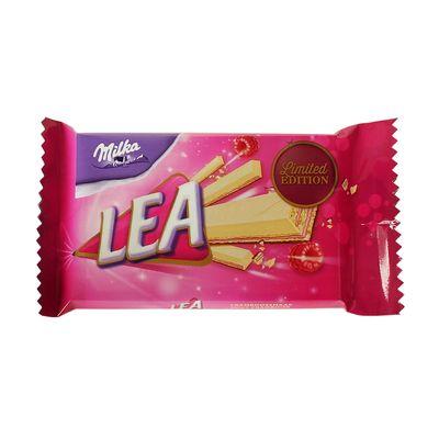 Вафельный батончик с малиновой начинкой Pink Ribbon Lea Milka 33,3 гр, фото 2