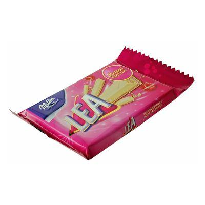 Вафельный батончик с малиновой начинкой Pink Ribbon Lea Milka 33,3 гр, фото 3