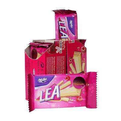 Вафельный батончик с малиновой начинкой Pink Ribbon Lea Milka 33,3 гр, фото 5