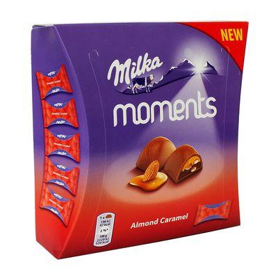 Шоколадные конфеты Almond Caramel Moments Milka 96 гр, фото 1