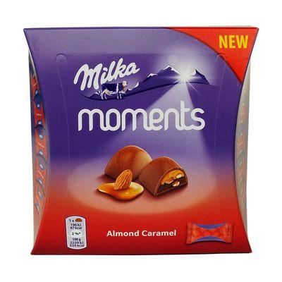 Шоколадные конфеты Almond Caramel Moments Milka 96 гр, фото 3