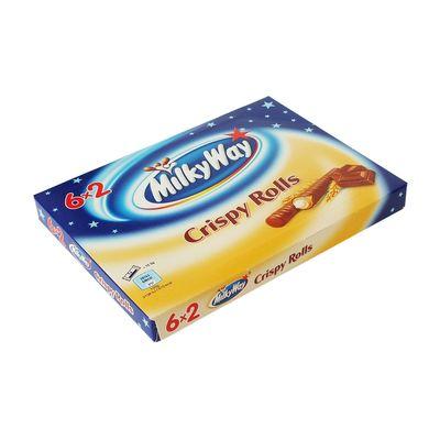 Коробка вафельных трубочек 6 x 2 Crispy Roll Milky Way 150 гр, фото 2
