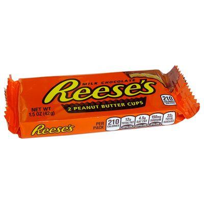 Конфеты шоколад с арахисом 2 Peanut Butter Cups Reese's 42 гр, фото 1
