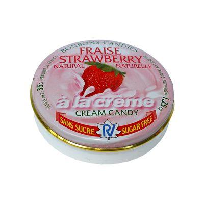 Леденцы без сахара клубника со сливками Fraise Strawberry Rendez Vous 35 гр, фото 2