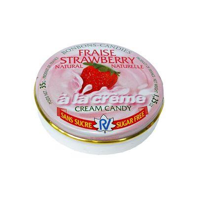 Леденцы без сахара клубника со сливками Fraise Strawberry Rendez Vous 35 гр, фото 3