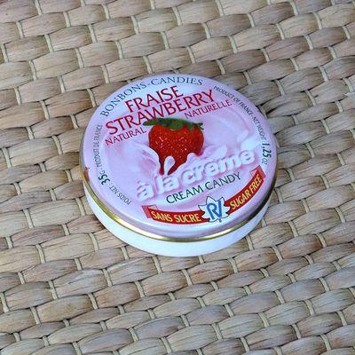 Леденцы без сахара клубника со сливками Fraise Strawberry Rendez Vous 35 гр, фото 5