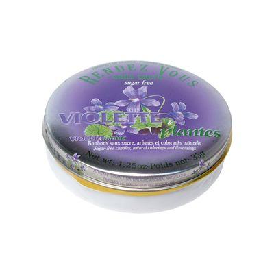 Леденцы без сахара вкус фиалки Violette Plantes Rendez Vous 35 гр, фото 1