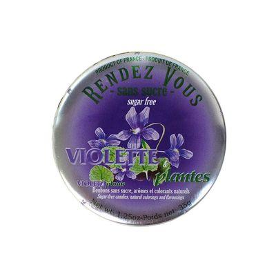 Леденцы без сахара вкус фиалки Violette Plantes Rendez Vous 35 гр, фото 4