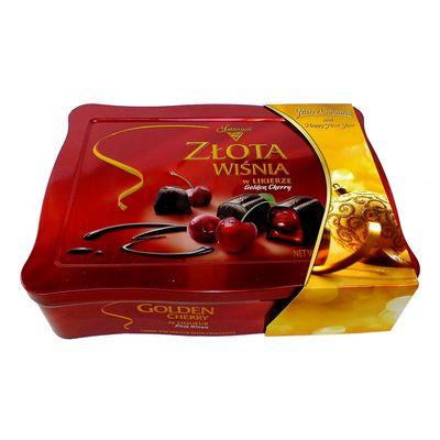Коробка конфет на Новый Год Вишни в ликёре жесть Solidarnosc 365 гр, фото 2