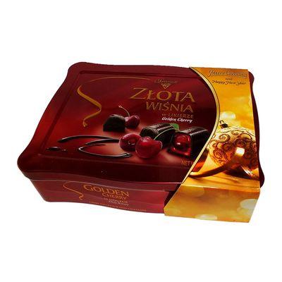 Коробка конфет на Новый Год Вишни в ликёре жесть Solidarnosc 365 гр, фото 3