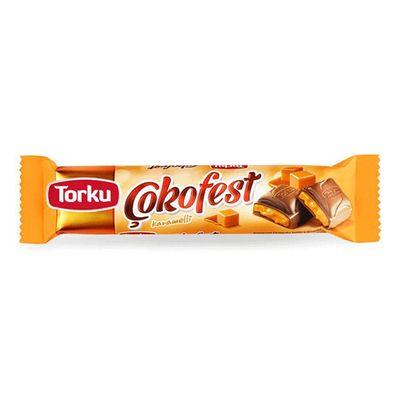 Шоколадный батончик с карамелью Cokofest Torku 35 гр, фото 1