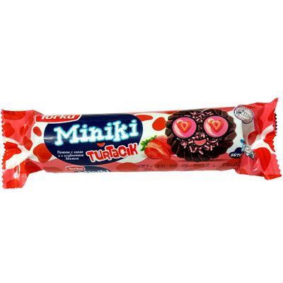 Печенье с какао и с клубничным джемом Miniki Turtacik Torku 102 гр, фото 1