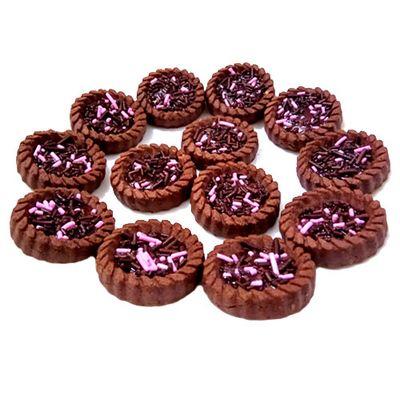 Печенье с какао и с клубничным джемом Miniki Turtacik Torku 102 гр, фото 2