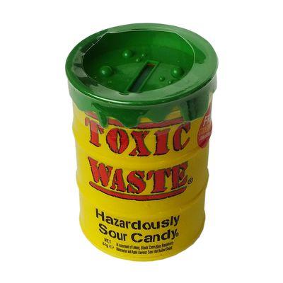 Большая банка Копилка ассорти кислых леденцов Toxic Waste 84 гр, фото 3