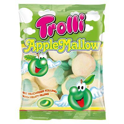 Суфле Яблочное с фруктовой начинкой Apple Mallow Trolli 150 гр, фото 1