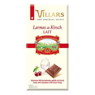 Молочный шоколад с вишнёвым бренди Villars 100 гр, фото 1