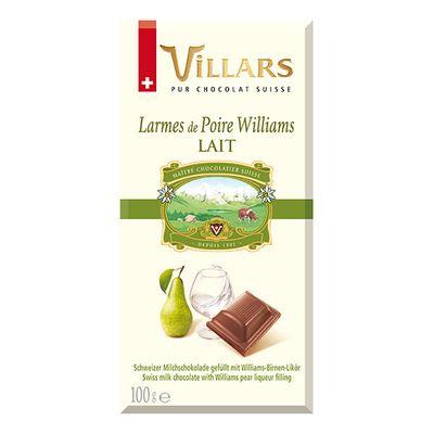 Молочный шоколад с грушевым ликером Villars 100 гр, фото 1
