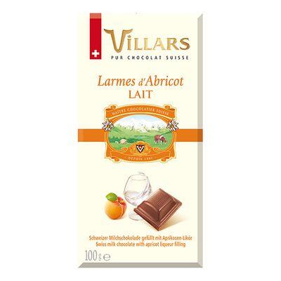 Молочный шоколад с абрикосовым бренди Villars 100 гр, фото 1