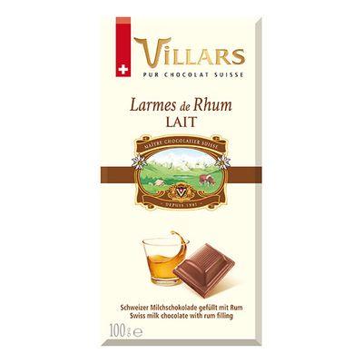Молочный шоколад с ромом Villars 100 гр, фото 1