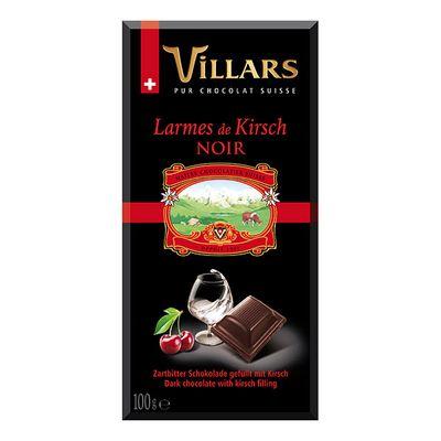 Тёмный шоколад с вишнёвым бренди Villars 100 гр, фото 1