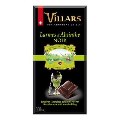 Темный шоколад с абсентом Villars 100 гр, фото 1
