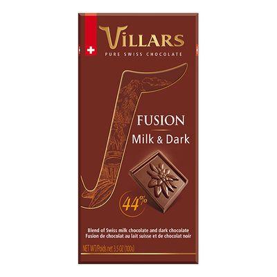 Молочный и темный шоколад Fusion 44% Villars 100 гр, фото 2
