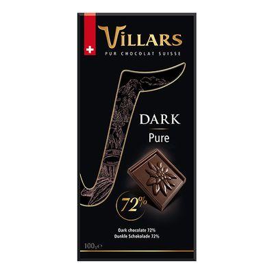 Горький шоколад 72% Villars 100 гр, фото 2