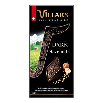 Темный шоколад с кусочками фундука Villars 100 гр, фото 1
