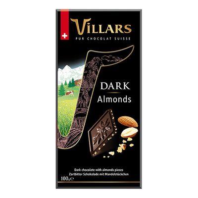 Темный шоколад с кусочками миндаля Villars 100 гр, фото 2