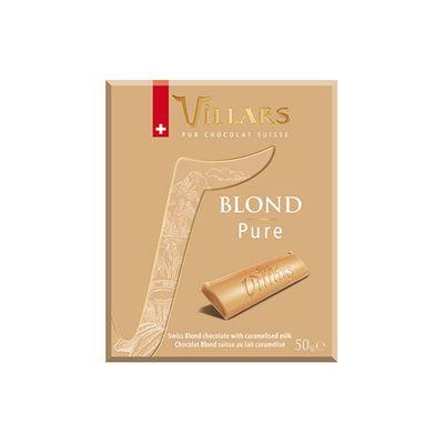 Белый шоколад с сухим карамелизованным молоком Villars 50 гр, фото 1